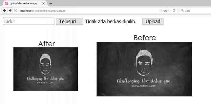 Upload dan resize image menggunakan codeigniter
