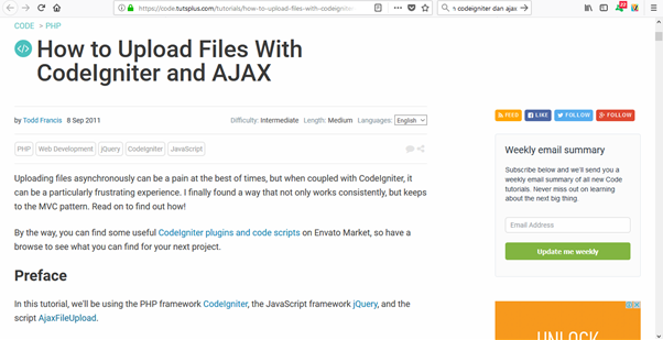 How to Upload files using Codeigniter and Ajax [Complete Tutorial]