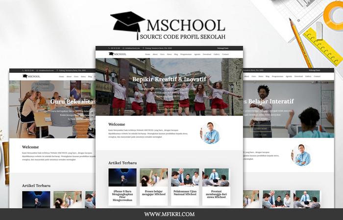 MSCHOOL - Source Code Web Profil Sekolah [Full Responsive]